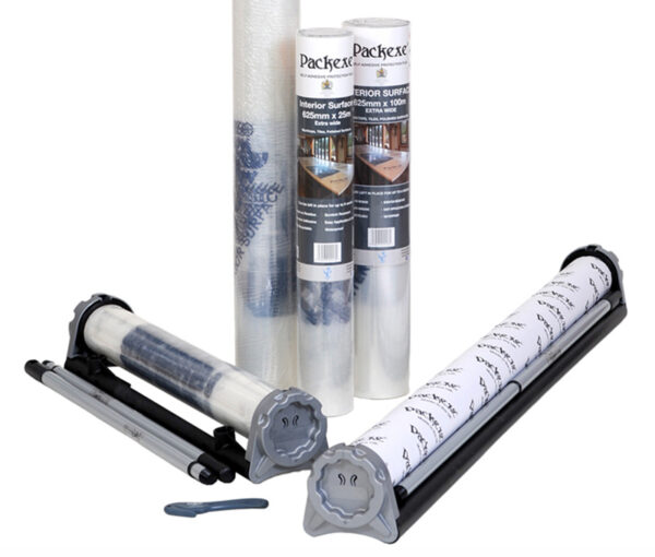 Packexe Interior Surface film protector group with all rolls and dispensers